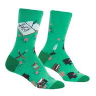 Sisterhood One Size Fits Most Green Ladies Crew Socks