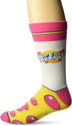 Super Bubble White One Size Fits Most Crew Socks