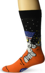 Mars Landing Black One Size Fits Most Crew Socks