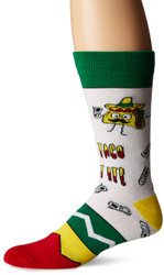 Lets Taco Bout IT White One Size Fits Most Crew Socks