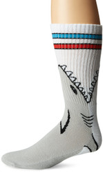 Shark Attack Grey One Size Fits Most Crew Socks
