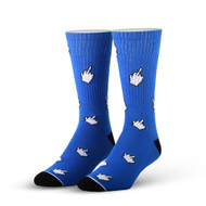Cursors Blue One Size Fits Most Crew Socks