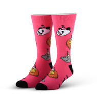 Party Animal Pink One Size Fits Most Crew Socks