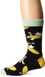 Family Guy Brian Banana Suit Black One Size Fits Most Crew Socks