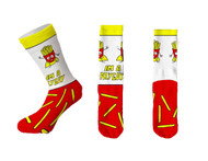 I'm a Fry Guy White One Size Fits Most Crew Socks