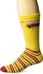 Kellogg's  Corn Pops Yellow One Size Fits Most Crew Socks