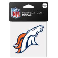 """Denver Broncos 4""""x4"""" Team Logo Decal"""