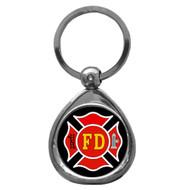 Firefighter Chrome Key Chain