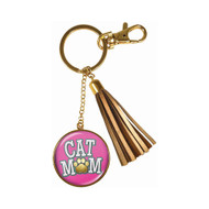 Cat Mom Tassle Keychain