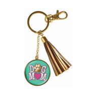 Dog Mom Tassle Keychain