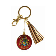 Harry Potter Hogwarts Crest  Tassle Keychain
