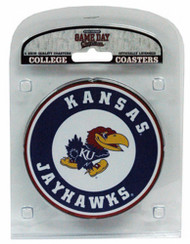 University of Kansas Coaster Set with Team Logo (Set of 4)