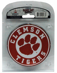 Clemson University Coaster Set with Team Logo (Set of 4)