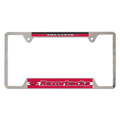 University of Arkansas Metal License Plate Frame