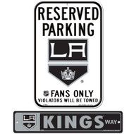 Bundle - 2 items: Los Angeles Kings Plastic Street Signand Reserved Parking Sign