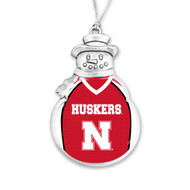 University of Nebraska Christmas Ornament - Snowman with Football Jersey