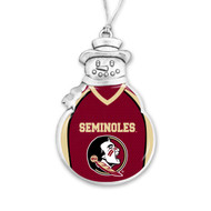 Florida State University Christmas Ornament - Snowman with Football Jersey
