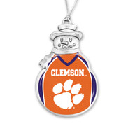 Clemson University Christmas Ornament - Snowman with Football Jersey