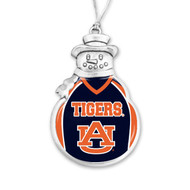 Auburn University Christmas Ornament - Snowman with Football Jersey