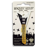 White V Electric Guitar KW1 House Key