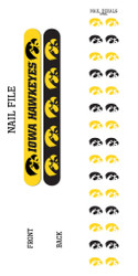 University of Iowa Nail File and Nail Decals