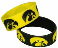 University of Iowa Wide Band Silicone Bracelet (Pack of 2)