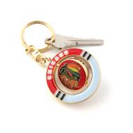 Chicago Blackhawks Spinner Keychain