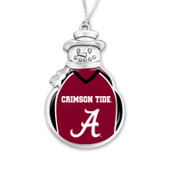 University of Alabama Christmas Ornament - Snowman with Football Jersey
