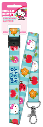 Hello Kitty Patchwork Lanyard Keychain