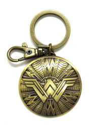 Wonder Woman Shield Brass Keychain #45751