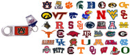 NCAA Lucite Bottle Opener Keychain - Choose Your Team