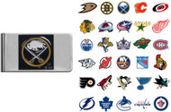 NHL Pewter Emblem Money Clip - Choose Your Team
