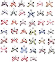 NCAA Mini Bow Keychains - Choose Your Team