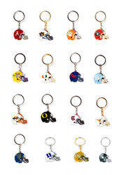 NCAA Helmet Key Chain - Choose Your Team