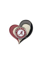 University of Alabama Swirl Heart Pin