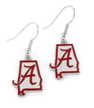 University of Alabama Earrings - State Design