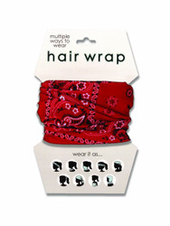 Red Bandana Hair Wrap