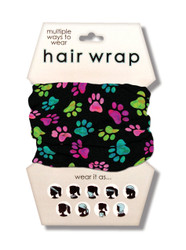 Pawprints Hair Wrap