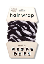 Zebra Print Hair Wrap