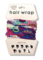 Purple Floral Hair Wrap