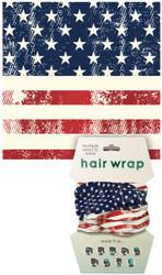 American Flag Hair Wrap
