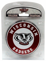 University of Wisconsin Coaster Set with Team Logo (Set of 4)