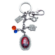 Alice in Wonderland Movie Mad Hatter Pewter Keychain