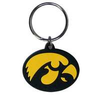 University of Iowa Laser Cut Rubber Keychain