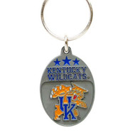 University of Kentucky Pewter Keychain NCAA