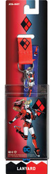 DC Comics Harley Quinn Reversible Lanyard with Breakaway Clip and ID Holder