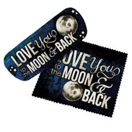 Love You to the Moon & Back Eyeglass Case and Cleaner