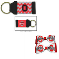 Ohio State University Hair Bow Pair and Chevron Keychain