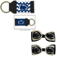 Penn State Hair Bow Pair and Chevron Keychain