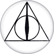 """Harry Potter Deathly Hallows 1.25"""" Button"""